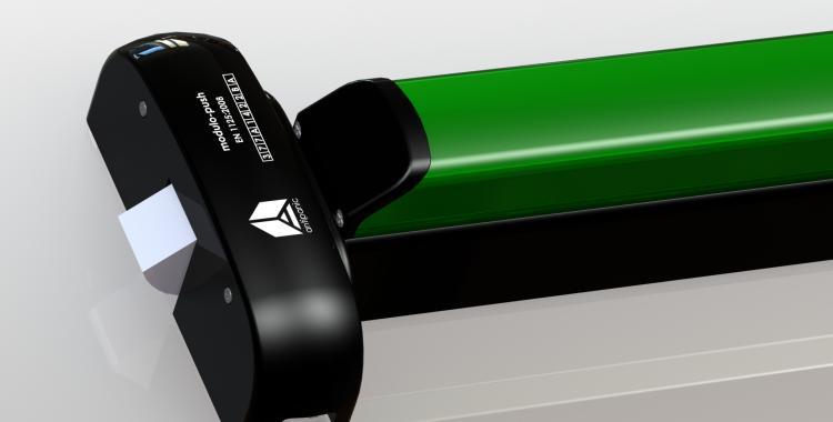 Push bar motorizzato acciaio nero verde