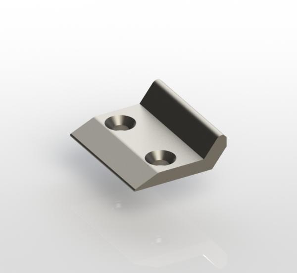 Cerradero lateral con orificios roscados